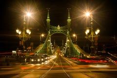 Luz de rua na noite em Budapest Foto de Stock