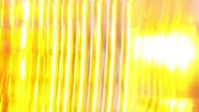 Luz de señal de vuelta que centella en el coche negro metrajes