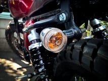 Luz de señal dejada vuelta de la motocicleta imagen de archivo