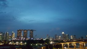 Luz de Singapur Fotos de archivo libres de regalías
