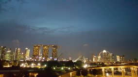 Luz de Singapura Fotografia de Stock