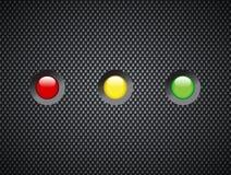 Luz de status no resíduo metálico preto Imagem de Stock