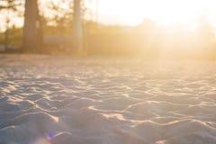 Luz de Sun no campo de jogos da areia Imagens de Stock