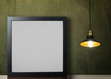 Luz de teto vazia grossa do quadro da foto foto de stock