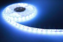Luz de tira branca do diodo emissor de luz foto de stock royalty free