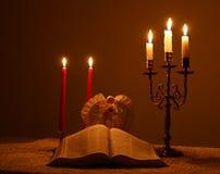 Luz de una vela fotografía de archivo