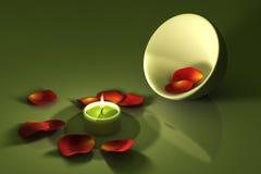 Luz de una vela ilustración del vector