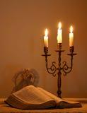 Luz de una vela 3 de la Navidad Imagen de archivo libre de regalías
