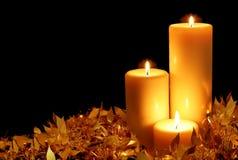Luz de una vela Imagenes de archivo
