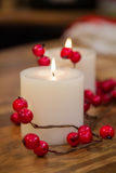 Luz de una vela del día de fiesta Fotos de archivo libres de regalías