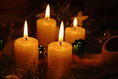 Luz de vela Imagem de Stock Royalty Free