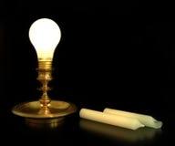 Luz de vela artificial imagem de stock