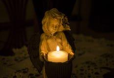 Luz de vela romântica Foto de Stock