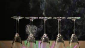 Luz de vidro do disco do champanhe vazio ninguém metragem do hd filme