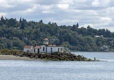 Luz de West Point do barco do cruzeiro dos fechamentos do Argosy imagem de stock royalty free