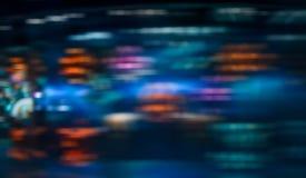 Luz Defocused borrosa y fondo abstracto del movimiento de la velocidad Fotos de archivo