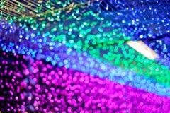 Luz Defocused del festival, bokeh colorido abstracto Fotografía de archivo libre de regalías