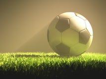 Luz del balón de fútbol Fotos de archivo libres de regalías