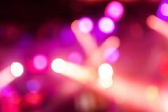 Luz del club de Defocus Luces borrosas Fotografía de archivo libre de regalías