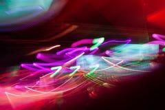 Luz del club de Defocus Luces borrosas Imagen de archivo