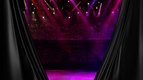 Luz del color de la etapa del concierto al azar almacen de metraje de vídeo