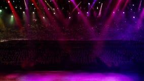 Luz del color de la etapa del concierto al azar almacen de video