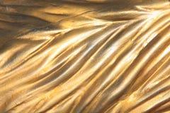 Luz del día del fondo de la pared del oro fotos de archivo
