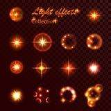 Luz del elemento del vector Imagen de archivo