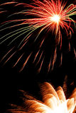 Luz del fuego artificial Imagen de archivo