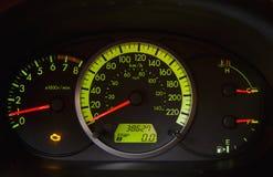 Luz del motor del apuro del coche imagen de archivo libre de regalías