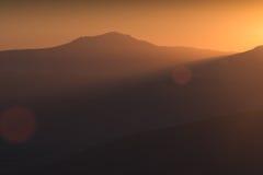 Luz del oro del Chatir-Dag foto de archivo