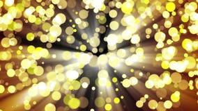 Luz del oro del brillo bucle