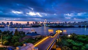 Luz del puente del arco iris foto de archivo libre de regalías
