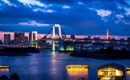 Luz del puente del arco iris fotografía de archivo libre de regalías