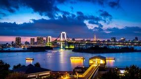 Luz del puente del arco iris fotografía de archivo