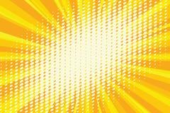 Luz del punto en el fondo retro amarillo ilustración del vector