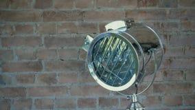 Luz del punto en estudio del foto Equipo de iluminación, flash o proyector Equipo ligero del cine Flashes del reflector almacen de video