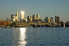 Luz del punto en Seattle fotografía de archivo libre de regalías