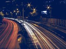 Luz del rastro del coche Foto de archivo libre de regalías