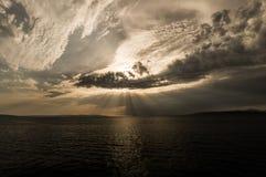 Luz del sol asombrosa imagen de archivo