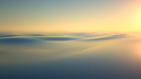 Luz del sol de la tarde sobre el agua Imagen de archivo