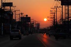 Luz del sol del tráfico Fotos de archivo