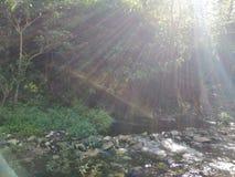 Luz del sol en el agua imagenes de archivo
