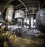 Luz del sol en el cementerio industrial Foto de archivo libre de regalías