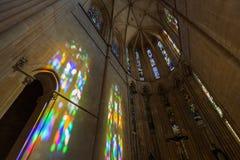 Luz del sol en el monasterio de Batalha - Portugal Fotos de archivo libres de regalías