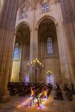 Luz del sol en el monasterio de Batalha - Portugal Imagen de archivo