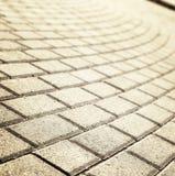 Luz del sol en el pavimento pavimentado del guijarro Fotos de archivo libres de regalías