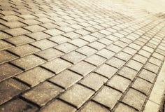 Luz del sol en el pavimento pavimentado del guijarro Imagen de archivo libre de regalías