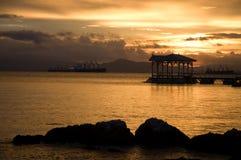 Luz del sol en el sichang Tailandia Foto de archivo