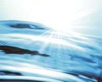 Luz del sol sobre el agua Fotografía de archivo